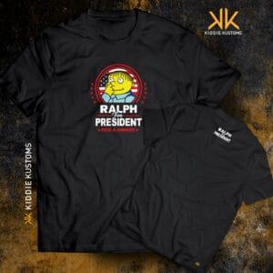Remera Estampada Unisex Ralph for President! – Negra
