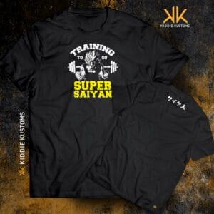 Remera Estampada Unisex Training to go Super Saiyan – Negra