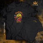 Remera Estampada Unisex Japan Pacman – Negra