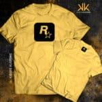 Remera Estampada Unisex Rockstar – Amarilla