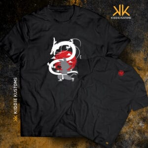 Remera Estampada Unisex Shenlong and Goku II – Negra